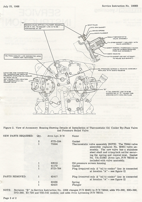 Lycoming Accessory Case Oil Schematic Archive VAF Forums